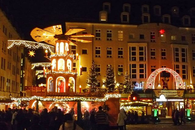 Le marché de Noël de Dresde en Allemagne