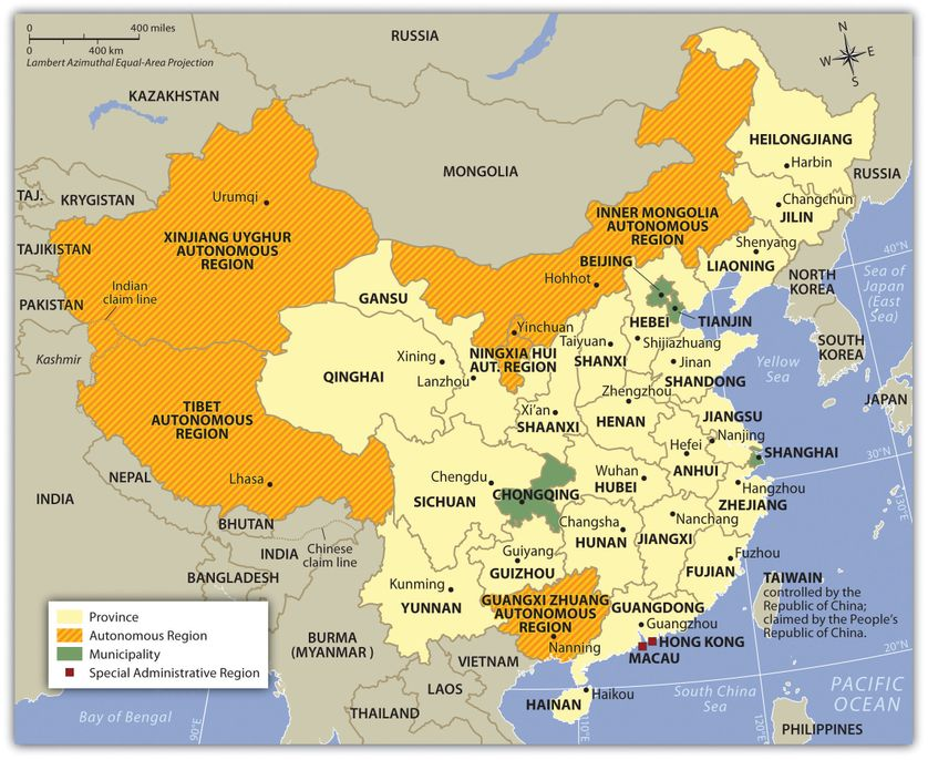 China and Its Administrative Divisions, Including Autonomous Regions, Municipalities, and SARs