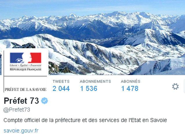 Compte twitter de la préfecture de Savoie