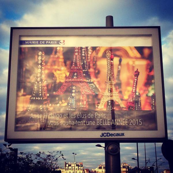 La carte de vœux de la mairie de Paris