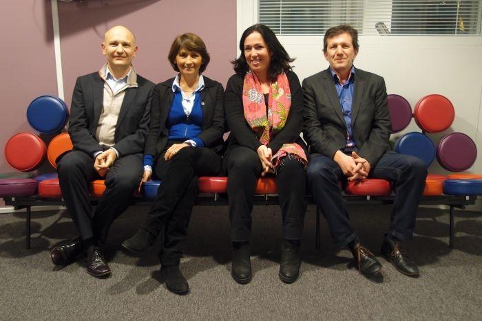 Rémi Godeau, Dominique Rousset, Sandrine Foulon et Thierry Fabre