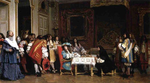 Louis XIV et Molière par Jean-Léon Gérôme - 1862