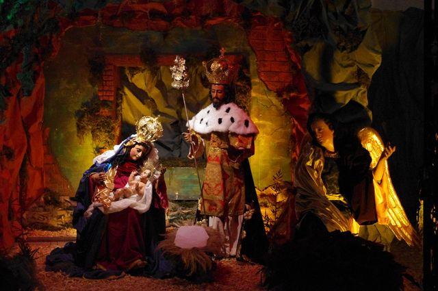 crèche de Noel - cathédrale ANtigua, Guatémala