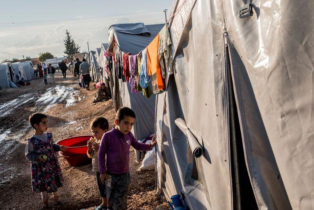 Camp de réfugiés kurdes syriens en Turquie