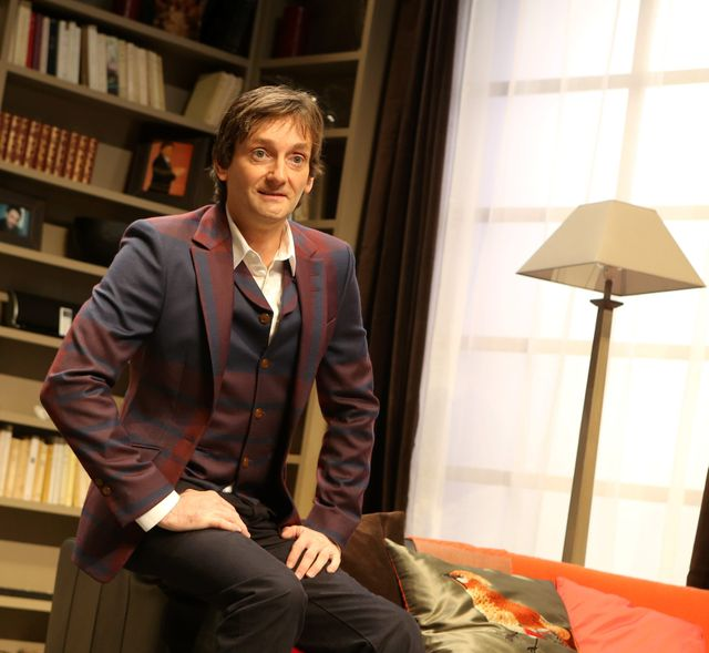"""Pierre Palmade répète """"Le Fils du Comique"""" à Romans, 20 septembre 2013"""