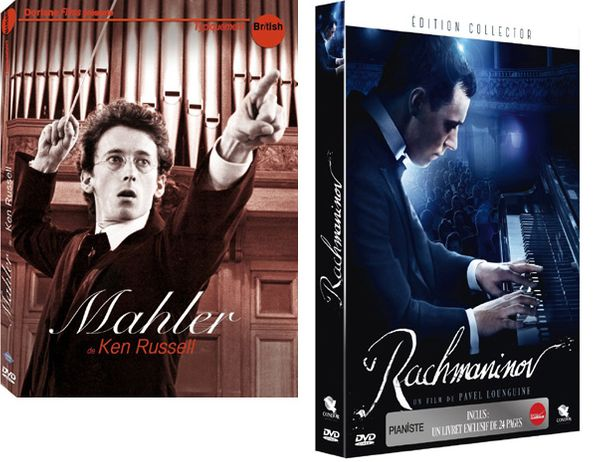MAHLER (Ken Russell, 1974), DVD Doriane Films, Collection Typiquement British / RACHMANINOV (Pavel Lounguine, 2007), DVD Condor Films