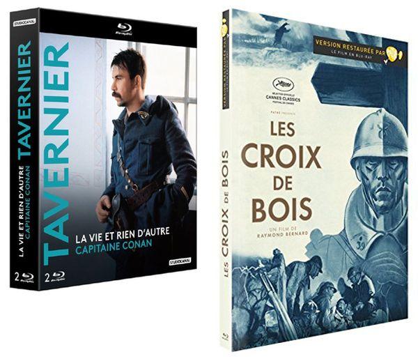 Coffret Blu Ray StudioCanal Tavernier LA VIE ET RIEN D'AUTRE (1989) - CAPITAINE CONAN (1996) / Blu Ray Pathé LES CROIX DE BOIS, Raymond Bernard (1932)