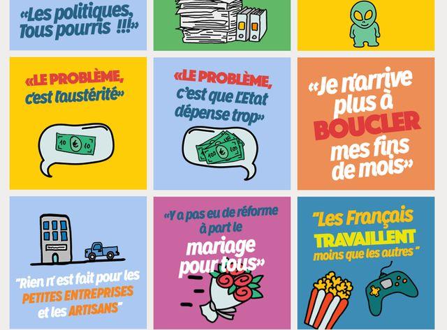 Le bingo de Noël proposé en ligne par le gouvernement (copie d'écran).