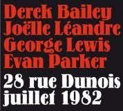 cd Quartet Léandre / Lewis / Bailey / Parker au Dunois en 1982