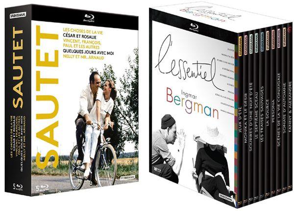 Coffret Blu Ray StudioCanal 5 films de Claude Sautet / Coffret BLu Ray StudioCanal-Gaumont 10 films d'Ingmar Bergman