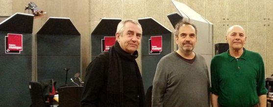 Christian Zanesi, Bruno Letort et Ghédalia Tazartès au studio 107 par B Riou Maillard