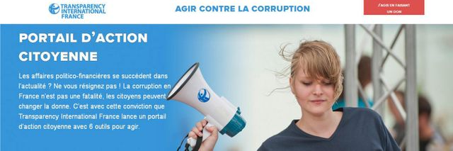Agir contre la corruption (capture d'écran).