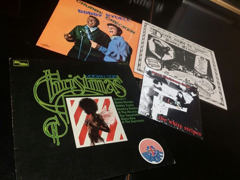 Vinyles, chansons de Noël