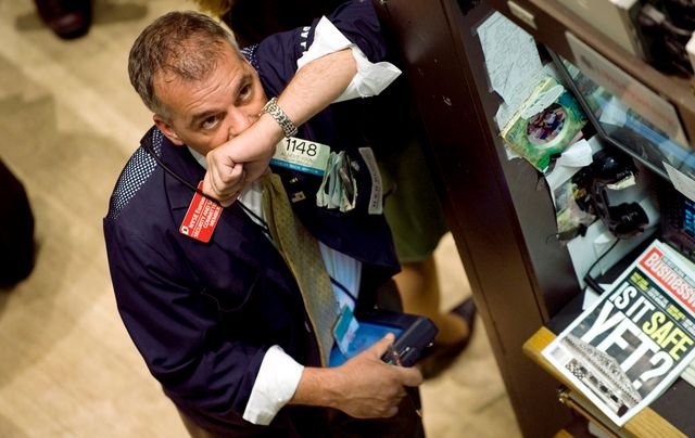 29 septembre 2008, un trader au New York Stock Exchange