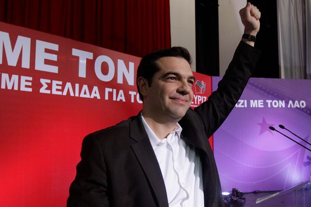Alexis Tsipras, le leader du parti anti-austérité grec Syriza.