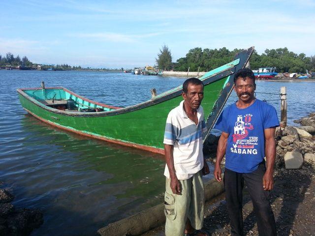 des pêcheurs de Banda Aceh victimes du tsunami