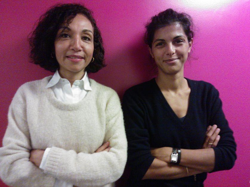 Fatma Bouvet de la Maisonneuve et Louise Tourret