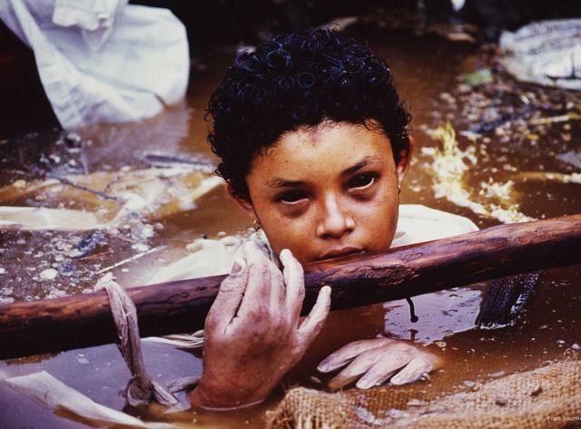 Omayra Sanchez, Armero, Colombie, 1985