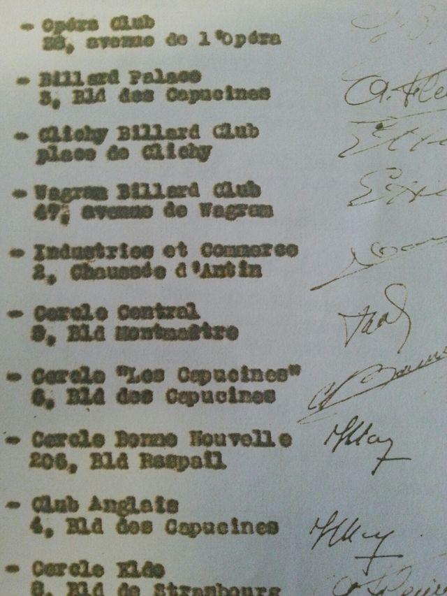 liste des cercles de jeu en France en 1958