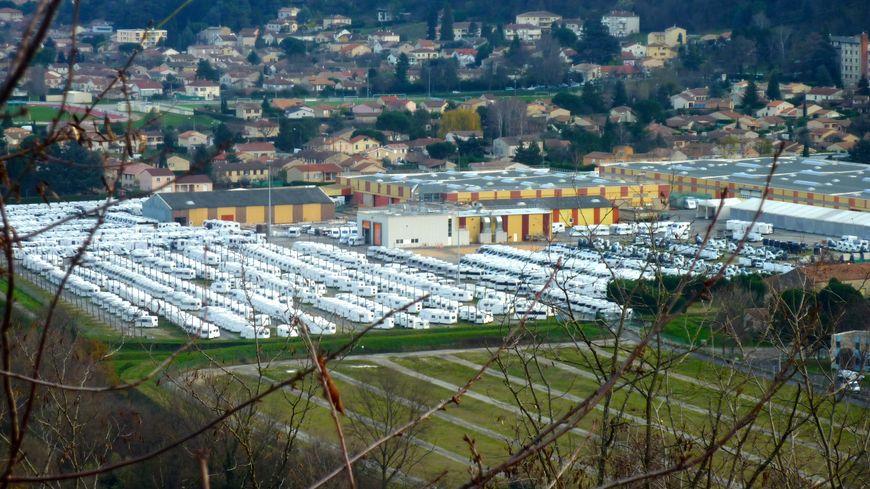 Le site de Trigano VDL à Tournon en Ardèche, décembre 2014