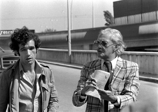 Lyon, le juge Francois Renaud le 09 septembre 1974 en compagnie du truand mattencio.