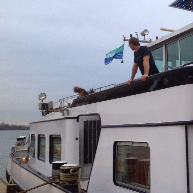 Marcel et son bateau, le Poseidon