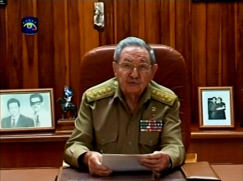 Le président cubain Raoul Castro dans son adresse à la Nation le 17 décembre 2014 au sujet du rapprochement avec les Etats-Unis