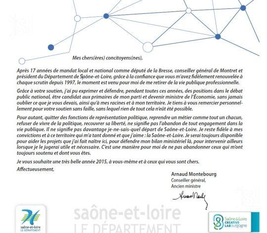Les voeux d'Arnaud Montebourg