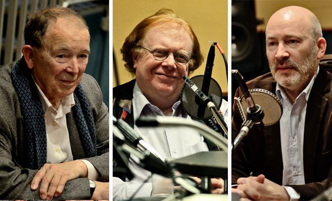 Nos invités, de gauche à droite: Jean-Pierre Changeux, Pierre Bénichou et Hervé Platel
