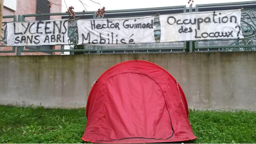 Mobilisation au lycée Guimard (Paris 19e)