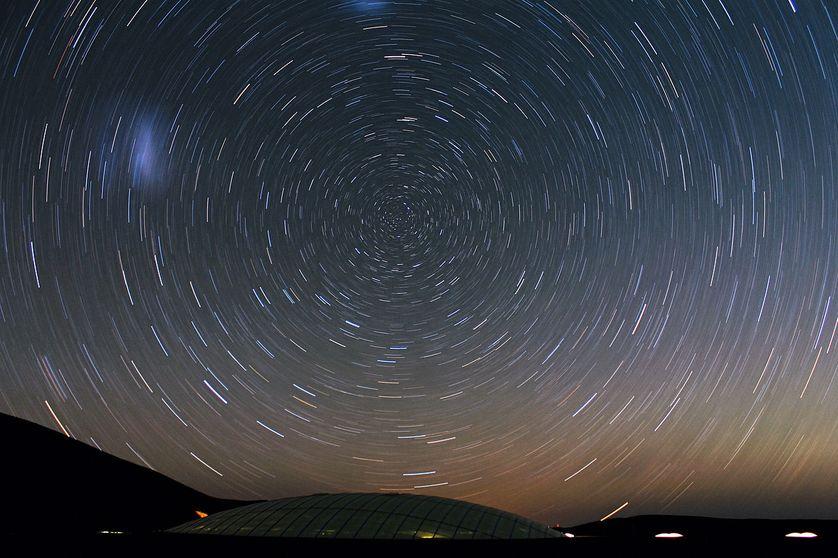 rotation de la Terre vue du Chili