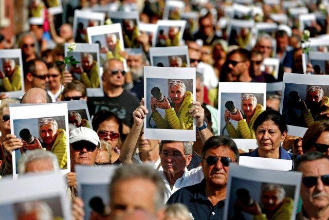 Hommage à Hervé Gourdel à Nice en octobre 2014