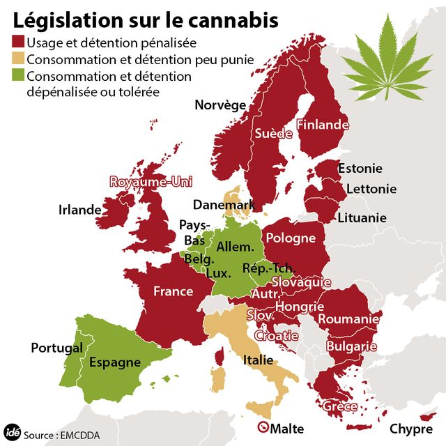 Cannabis : la législation en Europe