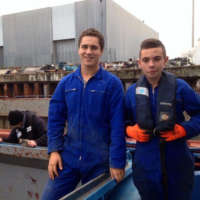 Jules et Joachim, en CAP Transport fluvial au lycée des Catelins à Montélimar