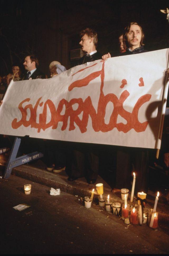 """Manifestation """"Solidarnosc"""", le 1er août 1981"""