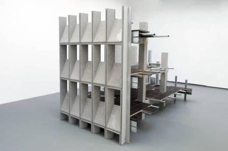 """Steppterminal 1"", 2014 bois, métal, placage de gypse cellullose"