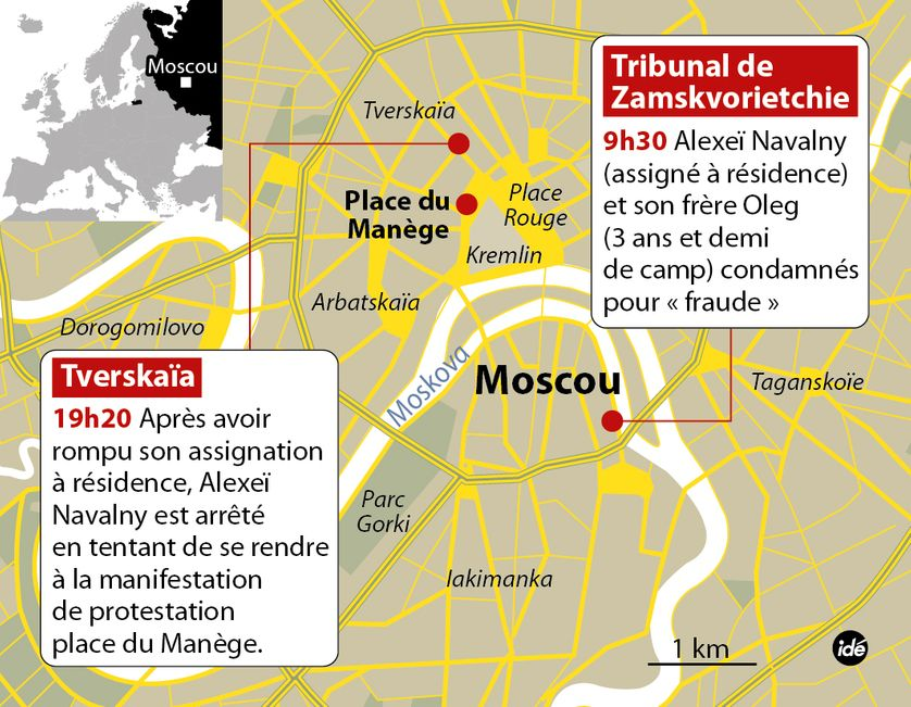 Infographie arrestation Alexei Navalny