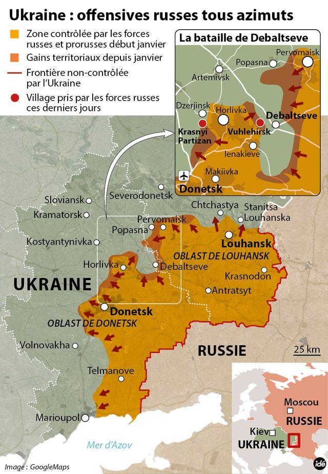 Les combats s'intensifient dans l'est de l'Ukraine