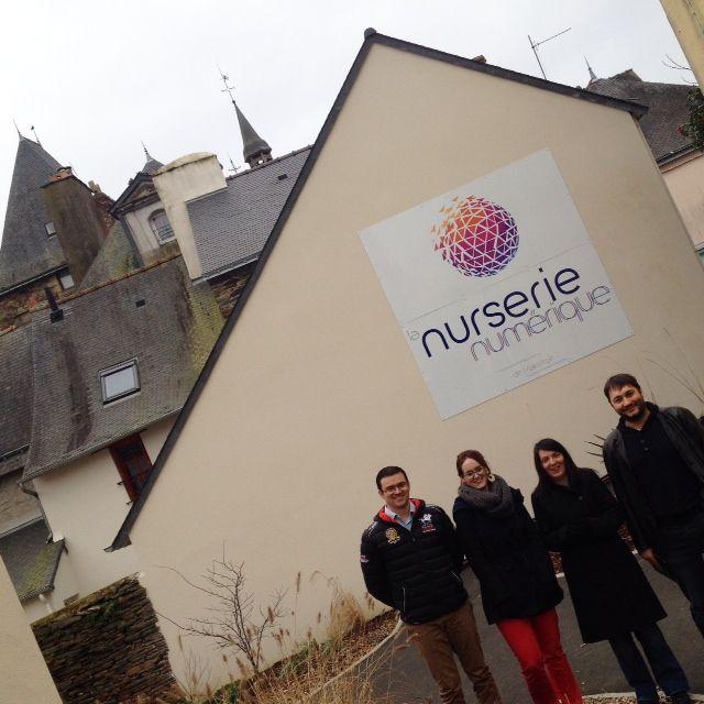 Les locataires de la Nurserie numérique à Malestroit (Morbihan)