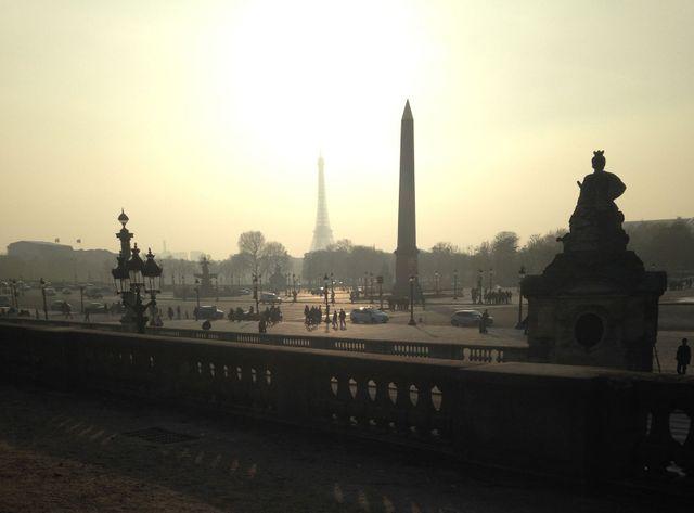 Paris durant l'épisode de pollution de mars 2014.