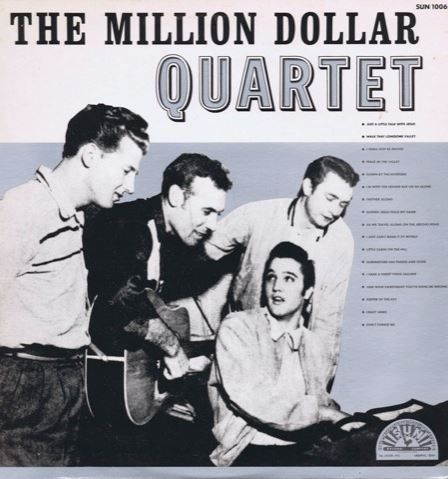 The Million Dollar Quartet - Elvis Presley, Jerry Lee Lewis, Carl Perkins, Johnny Cash