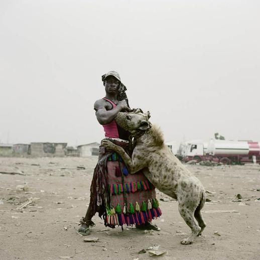 men and the hyenna Pieter Hugo