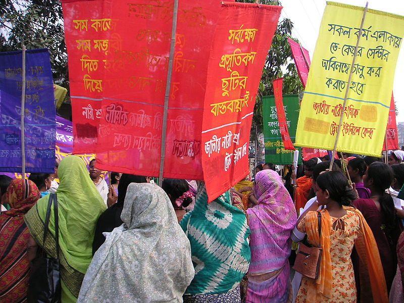 Bangladesh, Dhaka, 8.03.2013, Jatiyo Nari Shramik Trade Union Kendra (National Women Workers Trade Union Centre)
