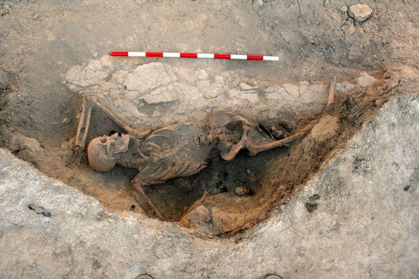 Soldat mort à la bataille de l'Ebro
