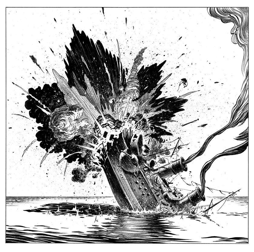 Hommes à la mer (Le nauffrage)