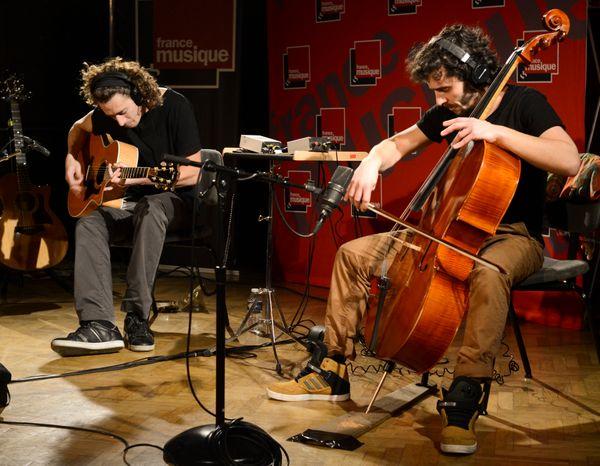 Lillabox (Mathieu Deranlot, violoncelle, et Alexandre Hetzel, guitare) / (© Victorine de Oliveira / France Musique)