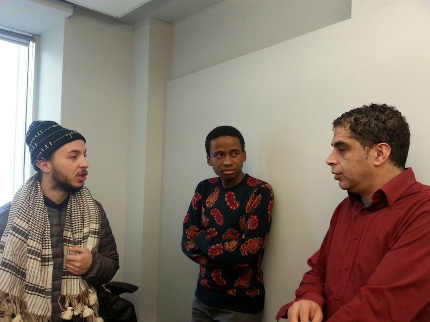 Mehdi, Badrou et Tewfik Hakem