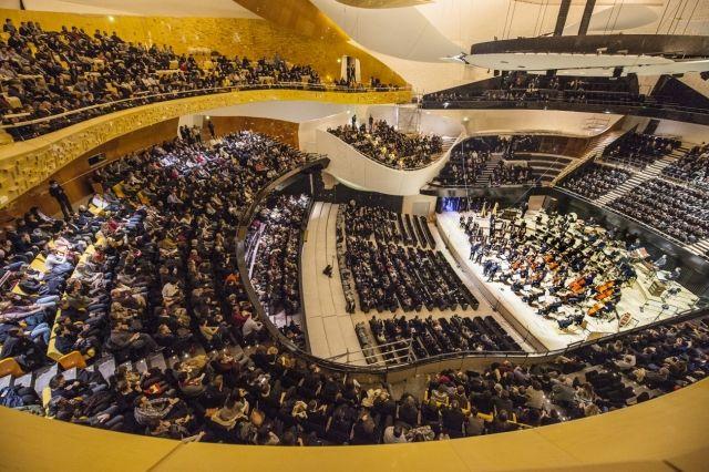 Répétition à la Philharmonie de Paris.