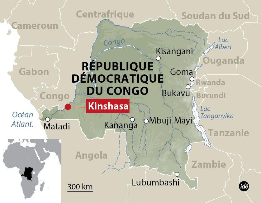 Carte de situation de Kinshasa (République démocratique du Congo)