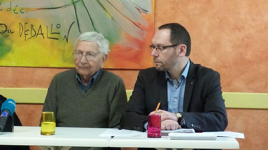 Jean Mercier et son avocat Me Boulay, avant l'audience devant le tribunal correctionnel de Saint-Étienne